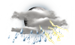 Mostly cloudy with thunderstorms